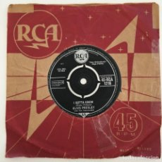 Discos de vinilo: ELVIS PRESLEY WITH THE JORDANAIRES – ARE YOU LONESOME TONIGHT?, UK 1960 RCA. Lote 276227088