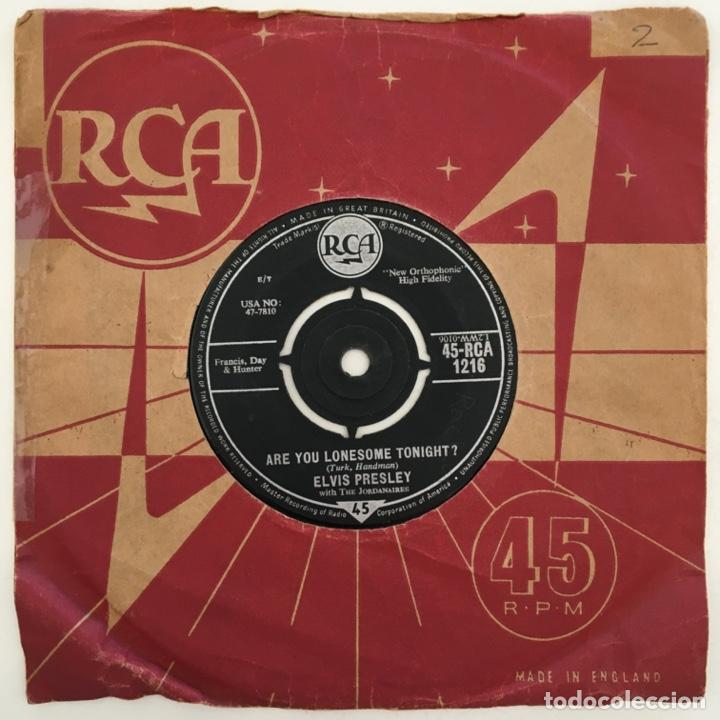 Discos de vinilo: Elvis Presley With The Jordanaires – Are You Lonesome Tonight?, UK 1960 RCA - Foto 2 - 276227088