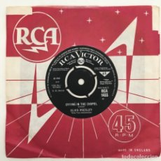Discos de vinilo: ELVIS PRESLEY WITH THE JORDANAIRES – CRYING IN THE CHAPEL, UK 1965 RCA VICTOR. Lote 276227198