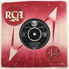 Discos de vinilo: ELVIS PRESLEY WITH THE JORDANAIRES – IT'S NOW OR NEVER (O SOLE MIO), UK 1960 RCA. Lote 276227348