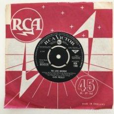Discos de vinilo: ELVIS PRESLEY – YOU GOTTA STOP / THE LOVE MACHINE, UK 1967 RCA VICTOR. Lote 276227488