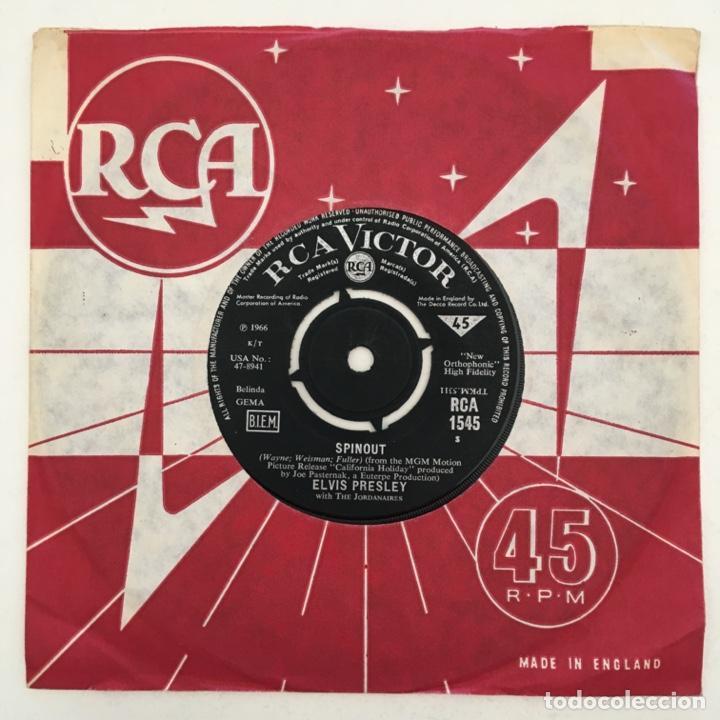 ELVIS PRESLEY & THE JORDANAIRES – ALL THAT I AM / SPINOUT, UK 1966 RCA VICTOR (Música - Discos - Singles Vinilo - Rock & Roll)