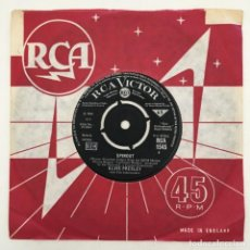 Discos de vinilo: ELVIS PRESLEY & THE JORDANAIRES – ALL THAT I AM / SPINOUT, UK 1966 RCA VICTOR. Lote 276227543
