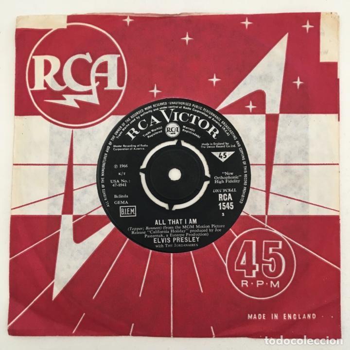 Discos de vinilo: Elvis Presley & The Jordanaires – All That I Am / Spinout, UK 1966 RCA Victor - Foto 2 - 276227543