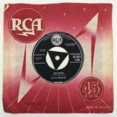 Discos de vinilo: ELVIS PRESLEY – ONE NIGHT / I GOT STUNG, UK 1959 RCA. Lote 276227613