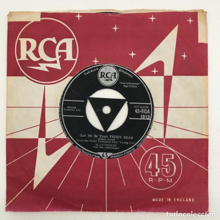 ELVIS PRESLEY WITH THE JORDANAIRES – (LET ME BE YOUR) TEDDY BEAR, UK 1957 RCA (Música - Discos - Singles Vinilo - Rock & Roll)