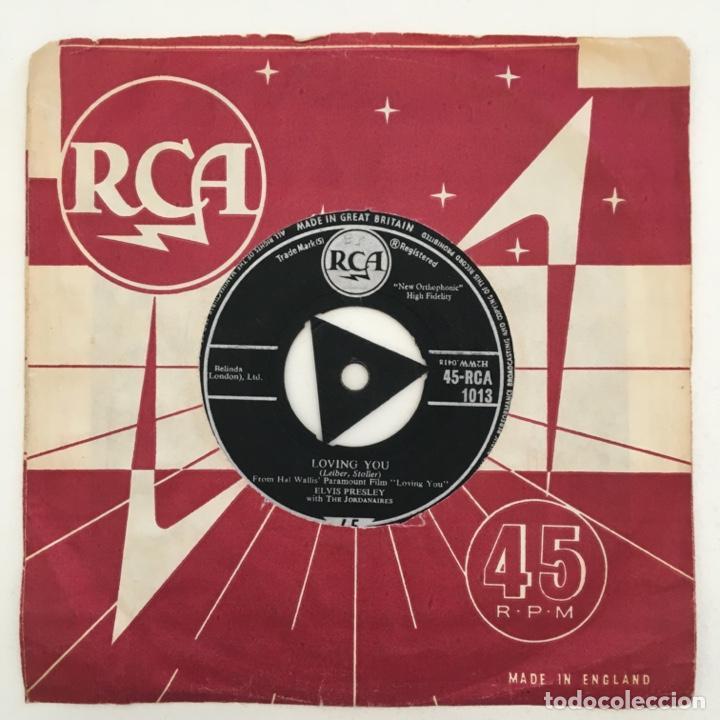Discos de vinilo: Elvis Presley With The Jordanaires – (Let Me Be Your) Teddy Bear, UK 1957 RCA - Foto 2 - 276227673