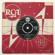 Discos de vinilo: ELVIS PRESLEY WITH THE JORDANAIRES – ARE YOU LONESOME TONIGHT?, UK 1960 RCA. Lote 276227708
