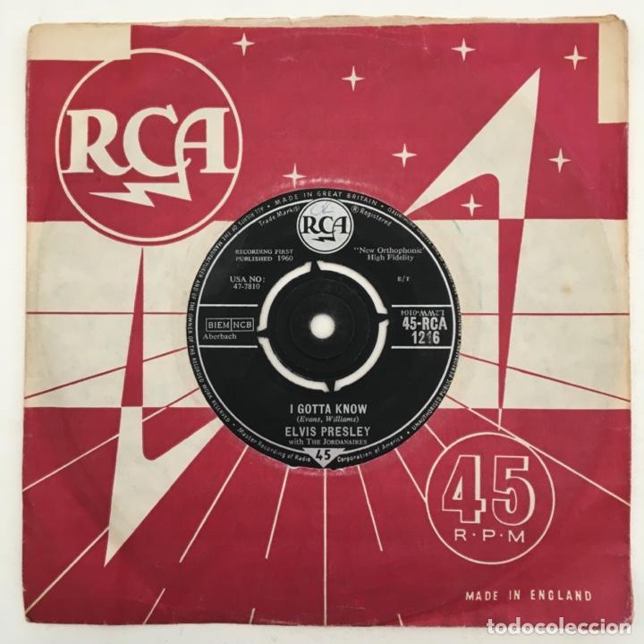 Discos de vinilo: Elvis Presley With The Jordanaires – Are You Lonesome Tonight?, UK 1960 RCA - Foto 2 - 276227708