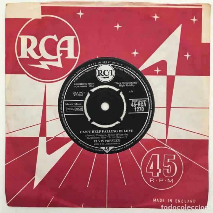 ELVIS PRESLEY WITH THE JORDANAIRES – CAN'T HELP FALLING IN LOVE / ROCK-A-HULA BABY, UK 1962 RCA (Música - Discos - Singles Vinilo - Rock & Roll)