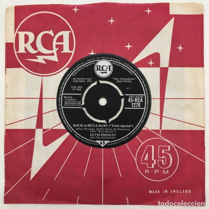 Discos de vinilo: Elvis Presley With The Jordanaires – Cant Help Falling In Love / Rock-A-Hula Baby, UK 1962 RCA - Foto 2 - 276227958