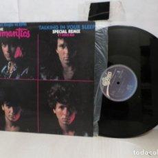 Discos de vinilo: LOS ROMANTICS--TALKING IN YOUR SLEEP--MADRID--1983 CBS--. Lote 276241823