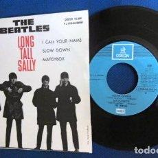 Discos de vinilo: BEATLES SINGLE EP RE EDICION EDITADO POR EMI ODEON ESPAÑA DOS REFERENCIAS LABEL AZUL CIELO. Lote 276288883