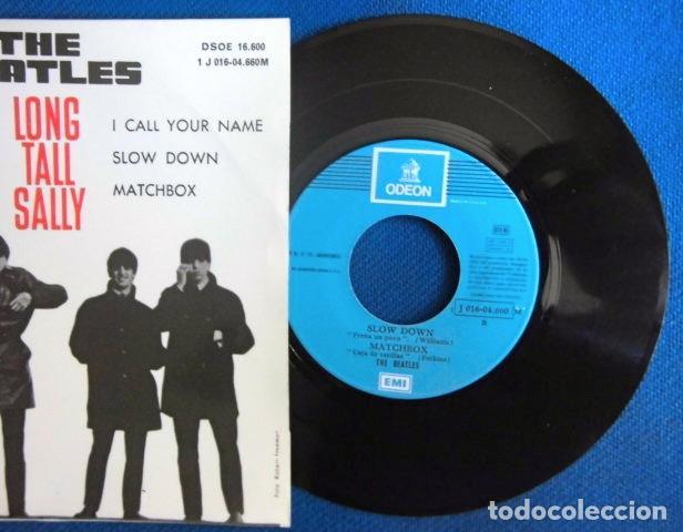 Discos de vinilo: BEATLES SINGLE EP RE EDICION EDITADO POR EMI ODEON ESPAÑA DOS REFERENCIAS LABEL AZUL CIELO - Foto 2 - 276288883