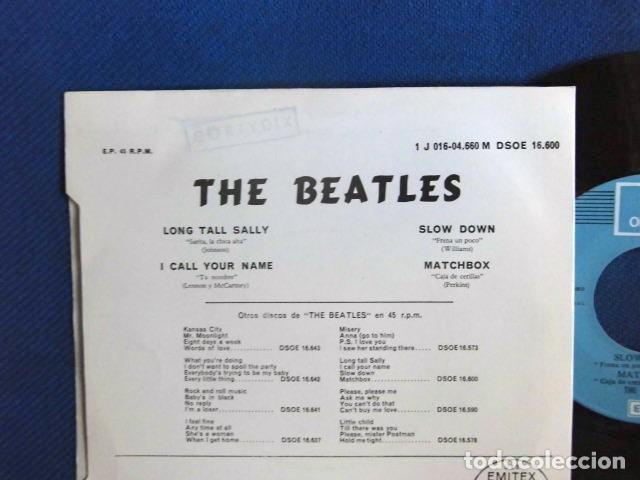 Discos de vinilo: BEATLES SINGLE EP RE EDICION EDITADO POR EMI ODEON ESPAÑA DOS REFERENCIAS LABEL AZUL CIELO - Foto 5 - 276288883