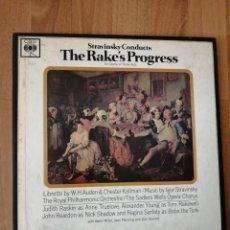 Disques de vinyle: ALBUM 3 VINILOS STRAVINSKY, EL PROGRESO DEL LIBERTINO, KEVIN MILLER, CBS,. Lote 276296163
