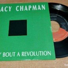 Discos de vinilo: TRACY CHAPMAN TALKIN' BOUT A REVOLUTION SINGLE VINILO PROMO ESPAÑA DEL AÑO 1988 MISMO TEMA. Lote 276361223