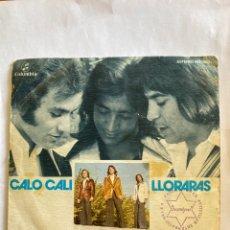 Discos de vinilo: MUNDO GITANO-CALO CALI/LLORARAS-1976-RARISIMA EDICION LABEL VERDE. Lote 276366543