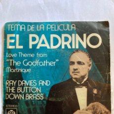 Discos de vinilo: RAY DAVIES AND THE BUTTON DOWN BRASS-LOVE THEME FROM THE GODFATHER-1972-RARA VERSION DE EL PADRINO. Lote 276368893