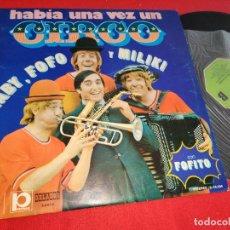 Discos de vinilo: GABY FOFO Y MILIKI HABIA UNA VEZ UN CIRCO LP 1973 MOVIEPLAY PAYASOS DE LA TELE TV FOFITO. Lote 276373778