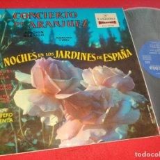 Discos de vinilo: ATAULFO ARGENTA CONCIERTO ARANJUEZ JOAQUIN RODRIGO+YEPES NOCHE JARDINES LP COLUMBIA SCLL 14000 EX. Lote 276374823