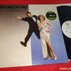 Discos de vinilo: MOONLIGHTING LUZ DE LUNA BSO OST TV LP 1988 WB ESPAÑA SPAIN CYBILL SHEPHERD+HOLIDAY+BRUCE WILLIS. Lote 276376788