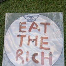 """Discos de vinilo: VINILO MAXISINGLE AEROSMITH """" EAT THE RICH """". Lote 276397733"""