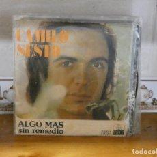 Discos de vinilo: DISCO 7 PULGADAS SINGLE ESTADO DECENTE CAMILO SESTO ALGO MAS. Lote 276413278