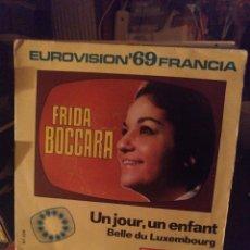 Discos de vinilo: EUROVISIÓN ''69 FRANCIA. Lote 276415813