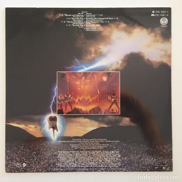Discos de vinilo: Thin Lizzy – Thunder And Lightning Germany.1983 Vertigo - Foto 2 - 276420138