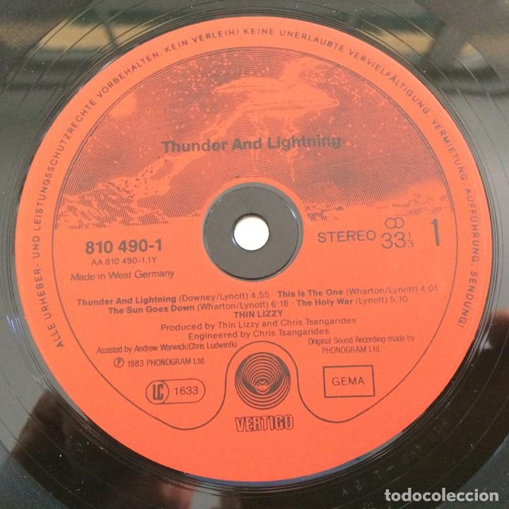 Discos de vinilo: Thin Lizzy – Thunder And Lightning Germany.1983 Vertigo - Foto 3 - 276420138