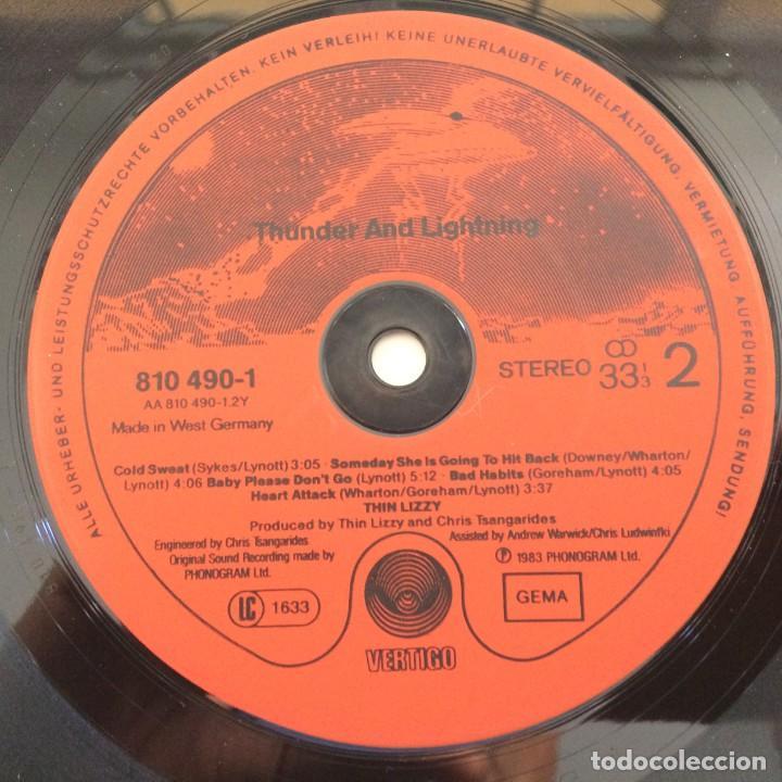 Discos de vinilo: Thin Lizzy – Thunder And Lightning Germany.1983 Vertigo - Foto 4 - 276420138