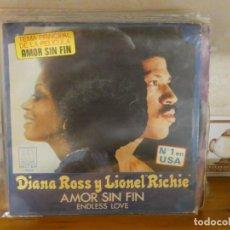 Discos de vinilo: DISCO 7 PULGADAS DIANA ROSS Y LIONEL RICHIE AMOR SIN FIN. Lote 276423903