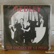 Discos de vinilo: DISCO 7 PULGADAS SINGLE PROMOCIONAL ELS OSCAR DE NURIA FELIU 1988 BUEN ESTADO. Lote 276424958
