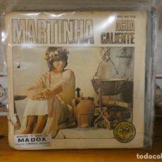 Discos de vinilo: DISCO 7 PULGADAS SINGLE 1977 MARTINHA AGUA CALIENTE ALGUNOS ROTOS EN TAPA VINILO OK. Lote 276425208