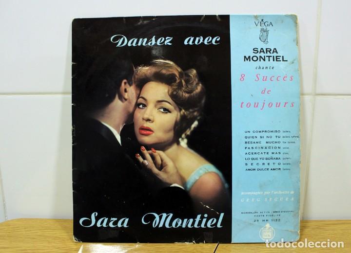 """SARA MONTIEL, DANSEZ AVEC - CHANTE 8 SUCCES DE TOUJOURS LP 33"""" DE COLECCIÓN!! (Música - Discos de Vinilo - Maxi Singles - Flamenco, Canción española y Cuplé)"""