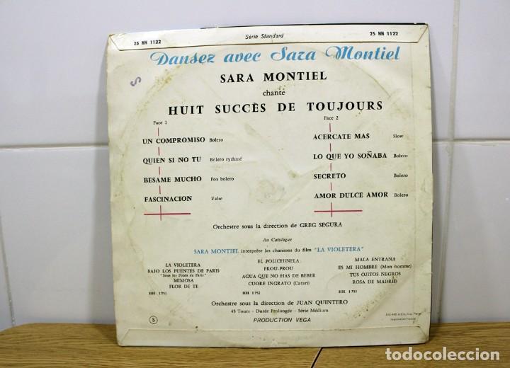 """Discos de vinilo: SARA MONTIEL, DANSEZ AVEC - CHANTE 8 SUCCES DE TOUJOURS LP 33"""" DE COLECCIÓN!! - Foto 2 - 276442468"""