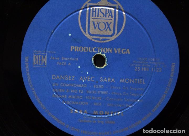 """Discos de vinilo: SARA MONTIEL, DANSEZ AVEC - CHANTE 8 SUCCES DE TOUJOURS LP 33"""" DE COLECCIÓN!! - Foto 6 - 276442468"""