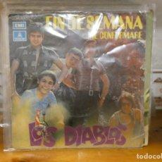 Discos de vinilo: DISCO 7 PULGADAS SINGLE LOS DIABLOS FIN DE SEMANA CAJA DE AHORROS DE SABADELL. Lote 276453328
