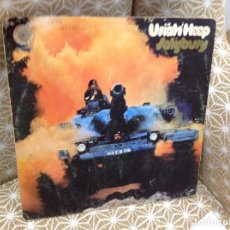 Discos de vinilo: URIAH HEEP - SALISBURY 1971 1ER ED UK GATEFOLD / GALLETA VERTIGO CON ESPIRAL. Lote 276454933
