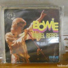Dischi in vinile: DISCO 7 PULGADAS SINGLE DAVID BOWIE REBEL REBEL 1973 CIERTO USO ACEPTABLE. Lote 276455183