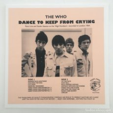 Discos de vinilo: THE WHO – DANCE TO KEEP FROM CRYING, UNOFFICIAL, EUROPE 2014 TRADE MARK OF QUALITY. Lote 276460228