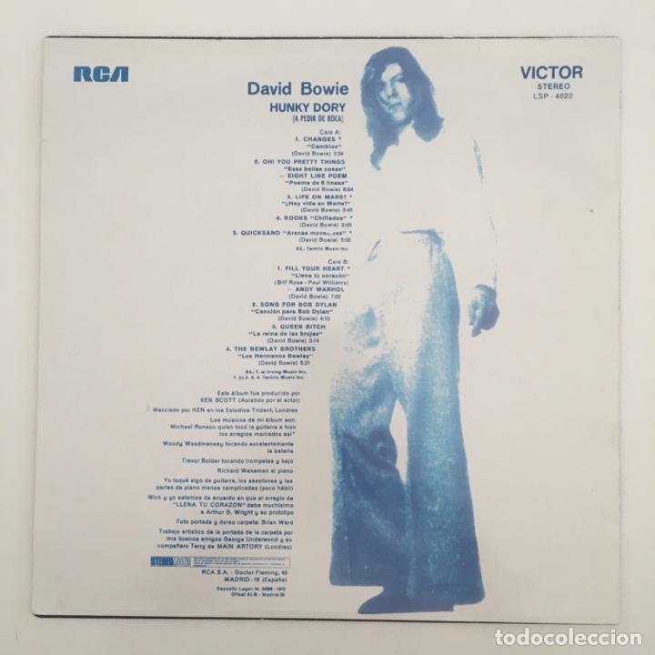 Discos de vinilo: David Bowie – Hunky Dory = A Pedir De Boca, Unofficial, Green, Spain 2015 RCA Victor - Foto 2 - 276461358