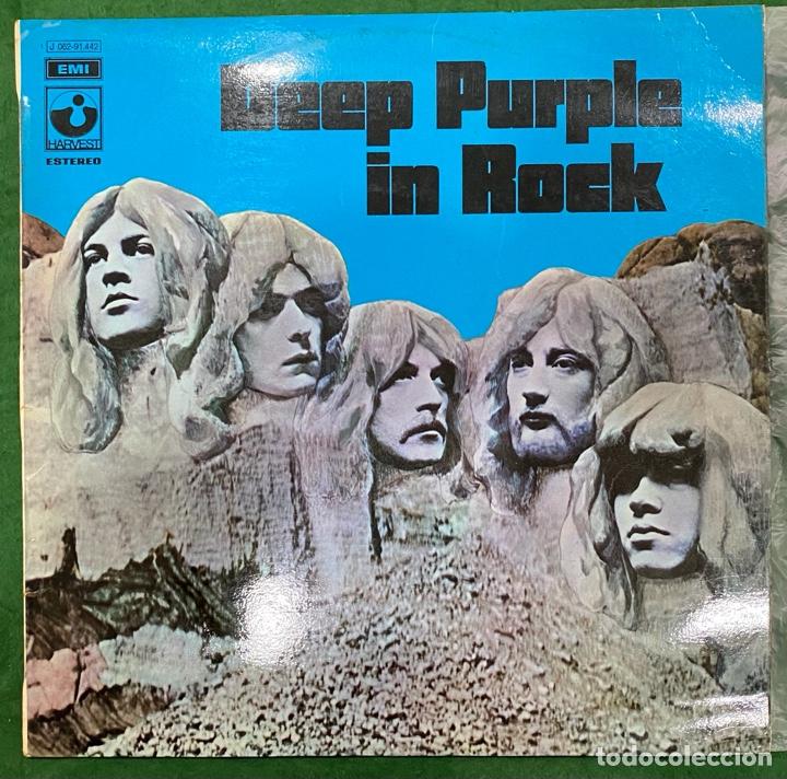 DEEP PURPLE IN ROCK -LP HARVEST DE 1970 RF-9909 (Música - Discos - LP Vinilo - Pop - Rock - Internacional de los 70)