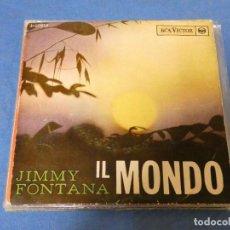 Dischi in vinile: DISCO 7 PULGADAS EP JIMMY FONTANA IL MONDO, CIERTO TROTE, AUDIBLE. Lote 276467278