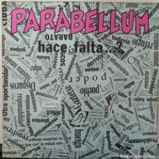 """Discos de vinil: LP PARABELLUM """"HACE FALTA...?"""". Lote 276470363"""