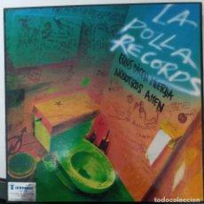 """Discos de vinil: LP LA POLLA """"ELLOS DICEN MIERDA NOSOTROS AMEN"""". Lote 276472163"""
