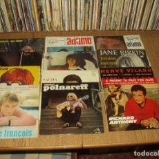 Discos de vinilo: LOTE 25 EP'S Y SINGLES SOLISTAS FRANCESES AÑOS 60/70. Lote 276475063