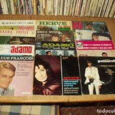 Discos de vinilo: LOTE 25 EP'S Y SINGLES SOLISTAS FRANCESES AÑOS 60/70. Lote 276476008