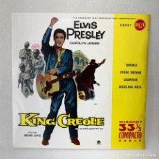 Discos de vinilo: EP ELVIS PRESLEY - KING CREOLE / EL BARRIO CONTRA MI - ESPAÑA - AÑO 1961. Lote 276488878